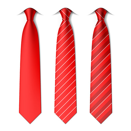 Illustration for Red plain and striped ties - Royalty Free Image