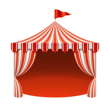 Illustration pour Circus tent, poster background - image libre de droit