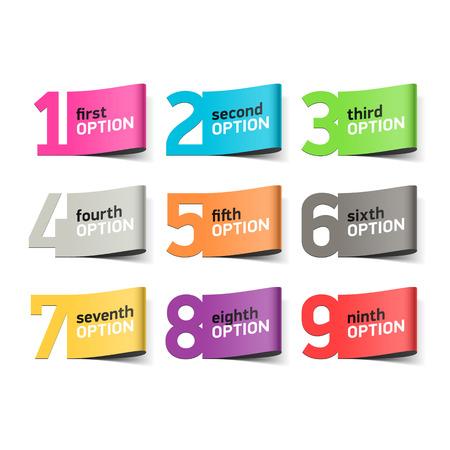Illustration pour Options numbers, infographics element - image libre de droit
