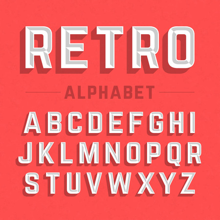 Foto per Retro style alphabet - Immagine Royalty Free