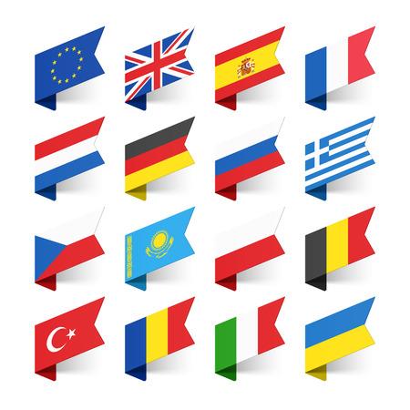 Illustration pour Flags of the World, Europe, set 1 - image libre de droit