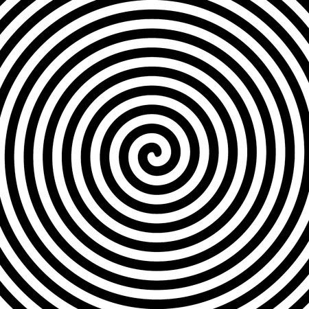 Ilustración de Black and white hypnosis spiral - Imagen libre de derechos