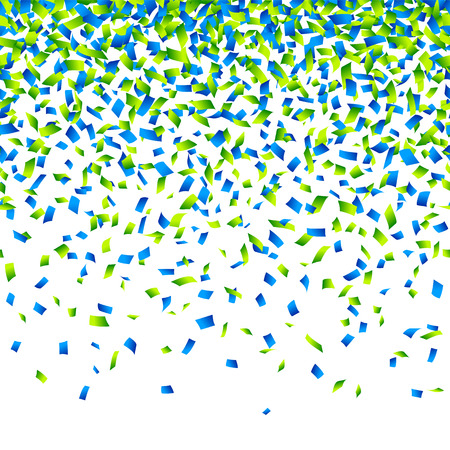 Illustration pour Confetti background Horizontally seamless illustration. - image libre de droit
