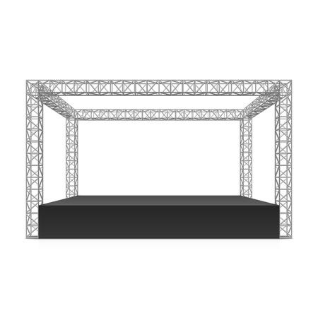Illustration pour Outdoor festival stage truss system - image libre de droit