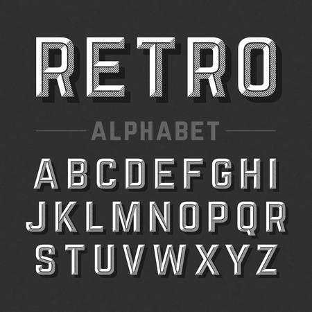 Illustration for Retro style alphabet - Royalty Free Image