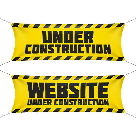 Photo pour Website under construction banners - image libre de droit