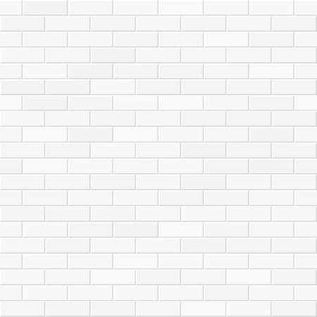 Illustration pour White brick wall seamless illustration - image libre de droit