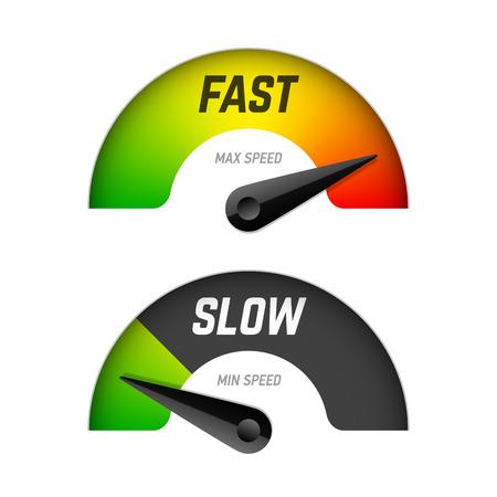 Ilustración de Fast and slow download - Imagen libre de derechos