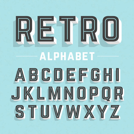 Photo pour Retro style alphabet - image libre de droit