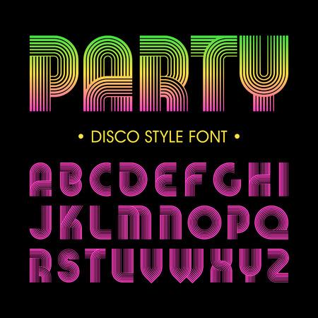 Ilustración de Disco party style font - Imagen libre de derechos