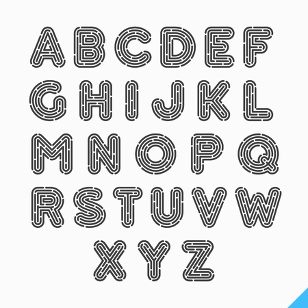 Ilustración de Fingerprint alphabet letters - Imagen libre de derechos