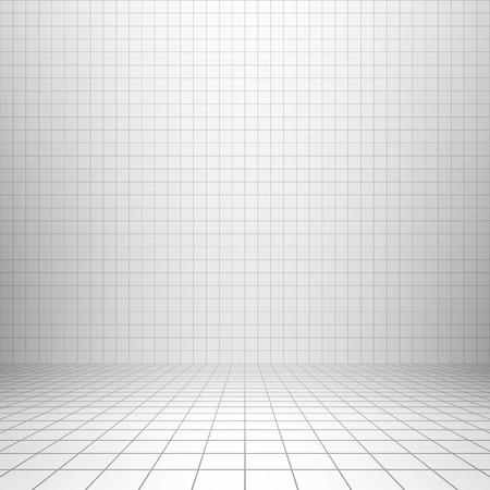 Illustration pour Interior backdrop with grid - image libre de droit