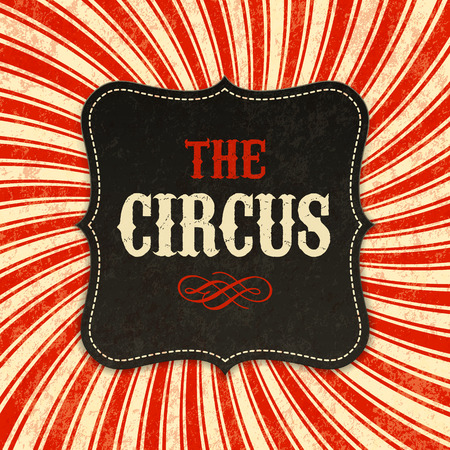 Illustration pour Circus poster background - image libre de droit