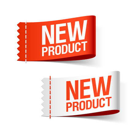 Illustration pour New product labels - image libre de droit
