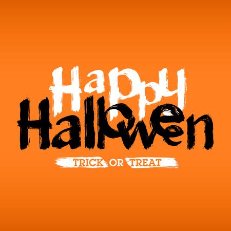Happy Halloween hand drawn card or invitation
