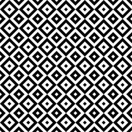 Illustration pour Black and white geometric seamless pattern - image libre de droit