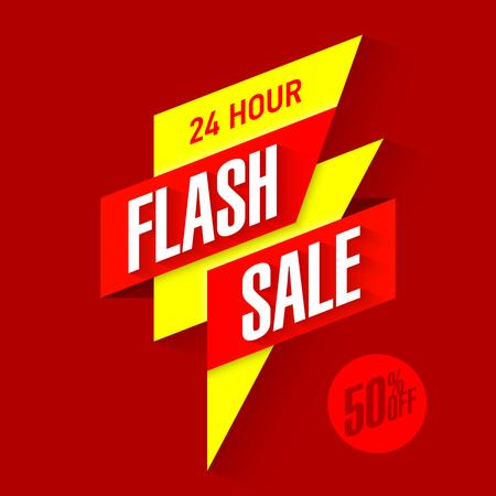 Illustration pour 24 hour Flash Sale bright banner - image libre de droit