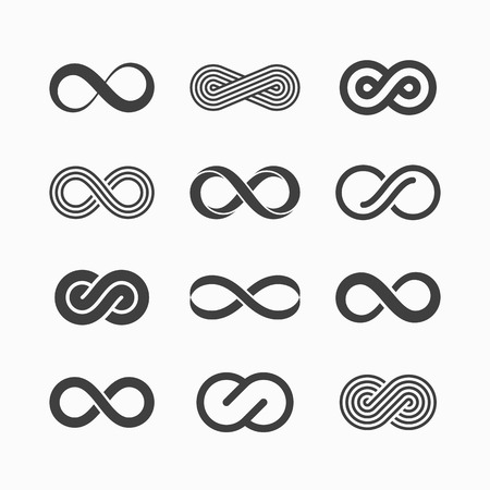 Illustration for Infinity symbol icons - Royalty Free Image