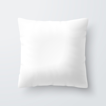Illustration pour Blank white square pillow cushion - image libre de droit