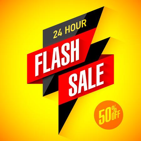 Illustration for 24 hour Flash Sale banner - Royalty Free Image