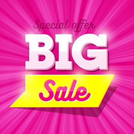 Illustration pour Big Sale special offer banner - image libre de droit