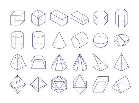 Illustration pour 3D geometric shapes icon. - image libre de droit