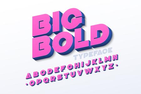 Illustration pour Bold 3d font in pink color - image libre de droit