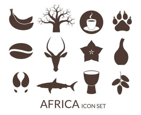 Ilustración de Africa. Icon set - Imagen libre de derechos