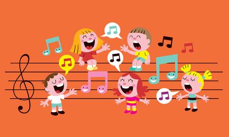 Illustration pour music kids - image libre de droit