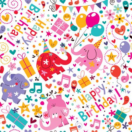 Illustration pour Happy Birthday pattern - image libre de droit