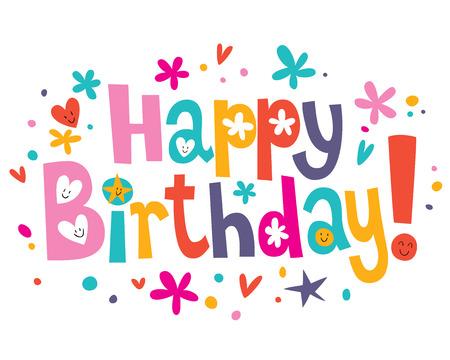 Illustration pour Happy Birthday text - image libre de droit
