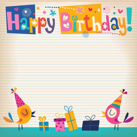 Ilustración de Happy Birthday card - Imagen libre de derechos