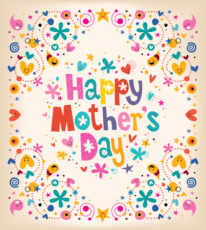 Illustration for Happy Mothers Day - Royalty Free Image