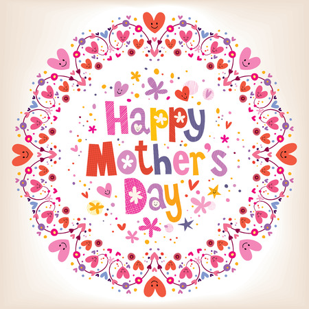 Illustration for Happy Mothers Day card - Royalty Free Image