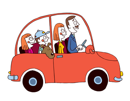 Ilustración de family car - Imagen libre de derechos