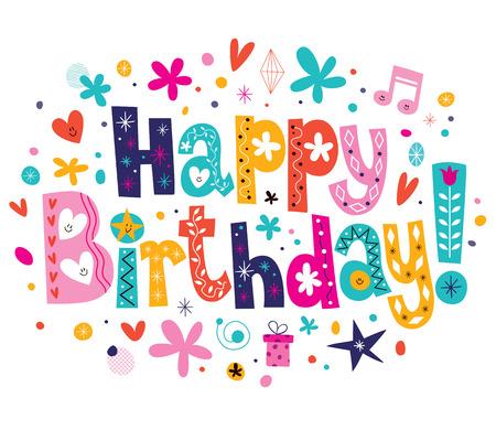 Ilustración de Happy Birthday - Imagen libre de derechos