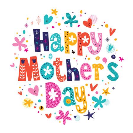 Illustration pour Happy Mothers Day - image libre de droit
