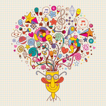 Illustration pour creative thinking - image libre de droit