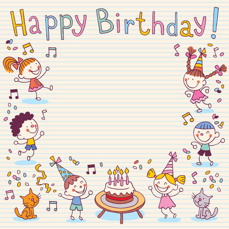 Illustration for Happy Birthday card - Royalty Free Image