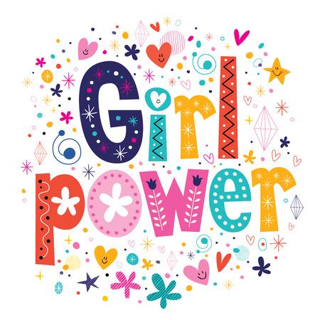 Ilustración de Girl power - Imagen libre de derechos