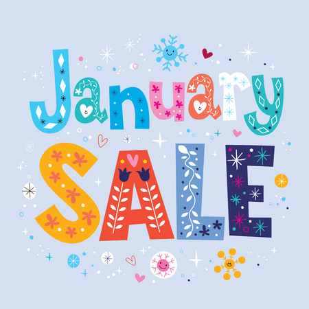 Photo for January sale - Royalty Free Image