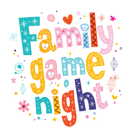 Illustration pour family game night - image libre de droit