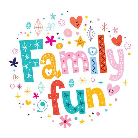 Illustrazione per Family fun - Immagini Royalty Free
