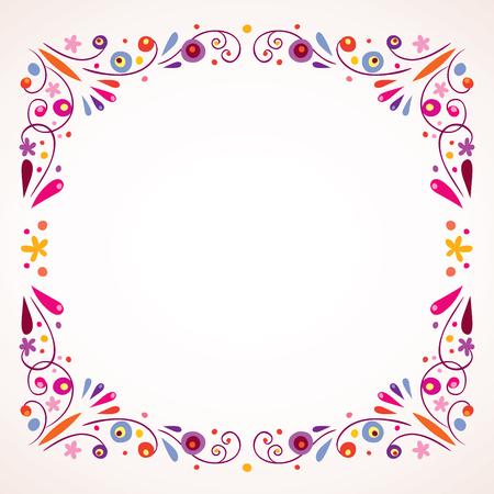 Ilustración de floral frame border - Imagen libre de derechos