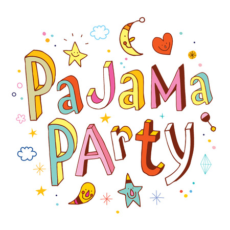 Illustration for pajama party - Royalty Free Image