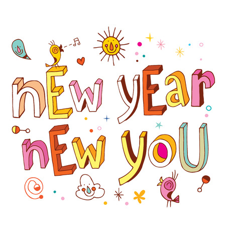Illustration for New Year new you - Royalty Free Image