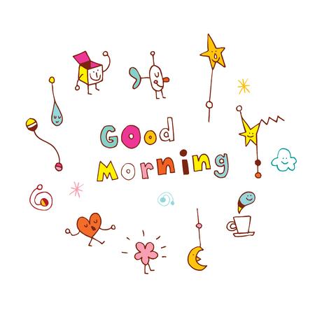 Illustration pour good morning - image libre de droit
