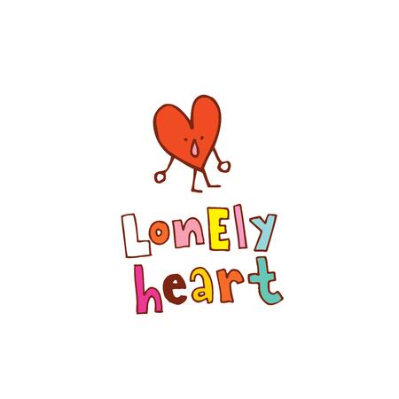 Illustration pour Lonely heart - image libre de droit