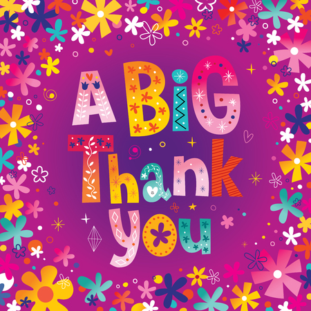 Illustration pour A big thank you greeting card - image libre de droit