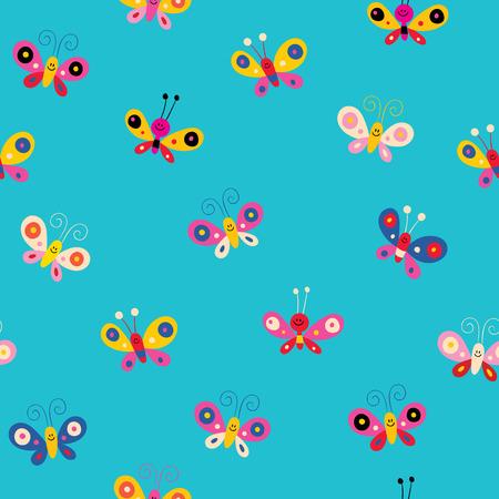 Ilustración de butterflies seamless pattern - Imagen libre de derechos